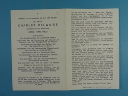 Charles Delwaide Ere-Burgemeester Rekem 1903 1970 - Devotion Images