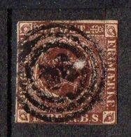 DANEMARK ( POSTE ) : Y&T N°  2  TIMBRE  BIEN  OBLITERE . - 1851-63 (Frederik VII)