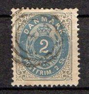 DANEMARK ( POSTE ) : Y&T N°  16  TIMBRE  BIEN  OBLITERE . - Oblitérés