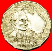 # COOK 1770: AUSTRALIA ★ 50 CENTS 1970 NOT TILTED 7! LOW START ★ NO RESERVE! - Monnaie Décimale (1966-...)