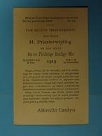 Herinnering Aan Mijn Eerste Mis 1919 Albrecht Cardyn (Mechelen, Halle) - Devotion Images