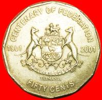 # FEDERATION 1901: AUSTRALIA ★ 50 CENTS 2001 TASMANIA! LOW START ★ NO RESERVE! - Monnaie Décimale (1966-...)