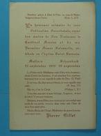 Ordination Sacerdotale Pierre Gillet 1922 (Malines, Schaerbeek) - Devotion Images