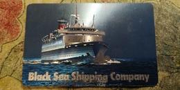 Pocket Calendar USSR - 1985- Black Sea Shipping Company - Cruise Ship - Relief - Advertising - Small : 1981-90
