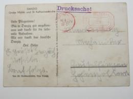 DANZIG  1935 , Postfreistempel Auf Karte Mit Zudruck - Danzig