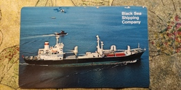 Pocket Calendar USSR - 1982 - Black Sea Shipping Company - Cargo Ship - - Advertising - Calendriers