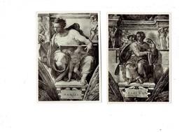 Lot 2 Cpm - ROMA - Palazzo Vaticano - Cappella Sistina - Profeta ISAIA - DANIELE- Prénom Daniel Esaias - Santi