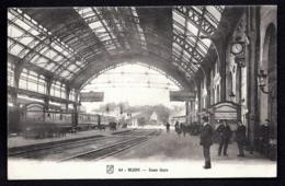 CPA ANCIENNE FRANCE- (21) GARE DE DIJON- INTERIEUR DE LA VERRIERE EN TRES GROS PLAN- TRAIN- ANIMATION - Gares - Avec Trains