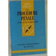 La Procedure Penale  Jean Larguier+++BE+++ LIVRAISON OFFERTE - Recht
