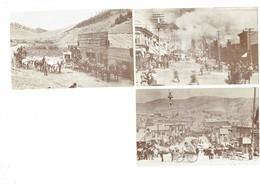 Lot 3 Cpm - Colorado - Cripple Creek - The Big Fire 1896 - Bennett Av - Midland Railway - Cheval Calèche HALFWAY HOUSE - Colorado Springs