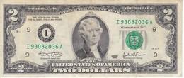 BILLETE DE ESTADOS UNIDOS DE 2 DÓLARES DEL AÑO 2003 SERIE I (BANK NOTE) - Billetes De La Reserva Federal (1928-...)
