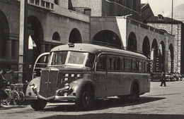 BRESCIA, Piazza Martiri Della Libertà Con Autobus Lancia 3Ro Carrozzeria Viberti - Corriera - Viaggiata - Brescia