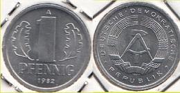 Germania DDR 1 Pfennig 1982 Small Design KM#8.2 - Used - [ 6] 1949-1990 : RDA - Rep. Dem. Tedesca