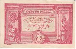 BILLETE DE PORTUGAL DE 5 CENTAVOS BRONZE DEL AÑO 1918  (BANKNOTE) - Portugal
