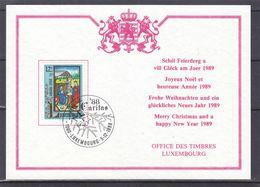 Noël - Luxembourg - Carte Postale De 1988 - Caritas - Oblit Luxembourg - Noël