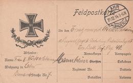 Allemagne Carte Illustrée Feldpost Lahr 1914 - Germania
