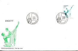 SUEDE. N°904 De 1975 Sur Enveloppe 1er Jour (FDC). Ballet. - Baile