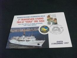 NAVE SHIP GUARDIA DI FINANZA NAVE SCUOLA GIORGIO CINI GAETA 1997 - Guerra