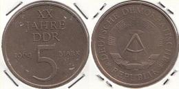 Germania DDR 5 Mark 1969 XX Jahre DDR KM#22.1 - Used - [ 6] 1949-1990 : RDA - Rep. Dem. Tedesca