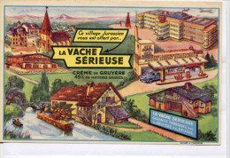 Buvard  Marque  Alimentaire  La  VACHE  SERIEUSE, Village  Jurassien - Collections, Lots & Series