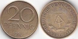 Germania DDR 20 Pfennig 1969 KM#11 - Used - [ 6] 1949-1990 : GDR - German Dem. Rep.