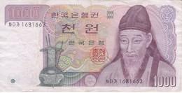 BILLETE DE COREA DEL SUR DE 1000 WON DEL AÑO 1975 (BANKNOTE) - Corée Du Sud