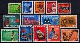Zm0094 ZAMBIA 1964,  SG 94-106 Pre-decimal  Definitives MNH - Zambia (1965-...)