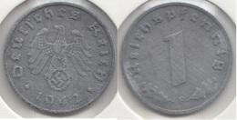 Germania Terzo Reich 1 Reichspfennig 1942F Km#97 - Used - [ 4] 1933-1945 : Troisième Reich