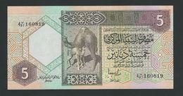 Libya P.60c 5 Dinars 1991  Unc - Libia