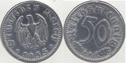 Germania Terzo Reich 50 Reichspfennig 1935A Km#87 - Used - [ 4] 1933-1945 : Troisième Reich