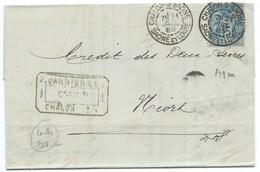 ENVELOPPE 15c SAGE / CHALONS SUR SAONE  / 1889 / DAGUIN - Marcophilie (Lettres)