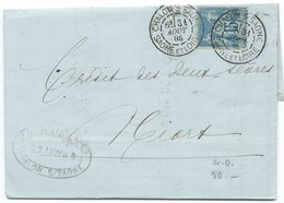 ENVELOPPE 15c SAGE / CHALONS SUR SAONE  / 1886 / DAGUIN - Marcophilie (Lettres)