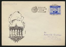 DDR Brief EF 302 Gottwald Berlin Deutsch Sowjetische Brandenburger Tor New York - DDR