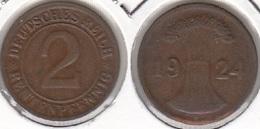 Germania 2 Rentenpfennig 1924 KM#31 - Used - [ 3] 1918-1933 : Repubblica Di Weimar