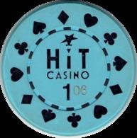 1 Hit Casino Kasino Kasinogeld Ficha Chip Jeton Token Poland Polonia Polen Pologne Type 2 - Casino