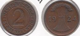 Germania 2 Rentenpfennig 1924 F KM#31 - Used - [ 3] 1918-1933 : Repubblica Di Weimar