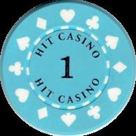 1 Hit Casino Kasino Kasinogeld Ficha Chip Jeton Token Poland Polonia Polen Pologne Type 1 - Casino