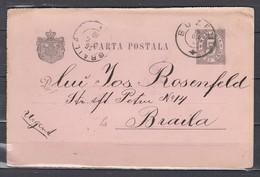 Carta Postala Van Buzeu Naar Braila - 1881-1918: Charles I