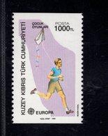 689148694 NORTHERN CYPRUS 1989 POSTFRIS MINT NEVER HINGED POSTFRISCH EINWANDFREI SCOTT 246 EUROPA CHILDREN TOYS - Chypre (Turquie)