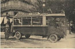 CPA -  LES TRANSPORTS A PARIS - AUTOBUS SANS IMPÉRIALE -  - CECODI - REPRODUCTION - C'ÉTAIT LA FRANCE - Transport Urbain En Surface