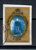 SLOVENIA 2001 -  EUROPA L'ACQUA - USATO SU FRAMMENTO - Slovenia