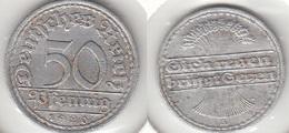 Germania 50 Pfennig 1920A KM#27 - Used - [ 3] 1918-1933 : Repubblica Di Weimar