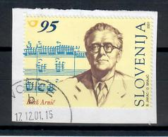 SLOVENIA 2001 -  COMPOSITORI - USATO SU FRAMMENTO - Slovenia