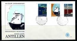 E00810)Niederl. Antillen FDC 460/462 - West Indies