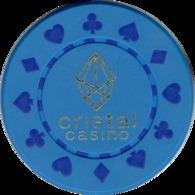 1 Cristal Casino Kasino Kasinogeld Ficha Chip Jeton Token Poland Polonia Polen Pologne Type 1 - Casino