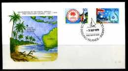 E01282)Kokosinseln FDC 32/3 Postdienst - Kokosinseln (Keeling Islands)