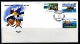 E01285)Kokosinseln FDC 115/7 Fasspost - Kokosinseln (Keeling Islands)