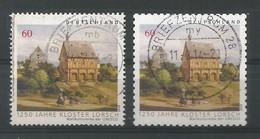 BRD 2014  Mi.Nr. 3050 + 3055 , 1250 Jahre Kloster Lorsch - Selbstklebend + Naßklebend - Gestempelt / Used / (o) - Gebraucht