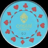 1 Cristal Casino Kasino Kasinogeld Ficha Chip Jeton Token Poland Polonia Polen Pologne Type 2 - Casino