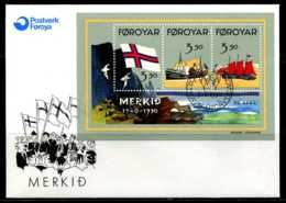 E02133)Färöer Inseln FDC Block 4 - Färöer Inseln